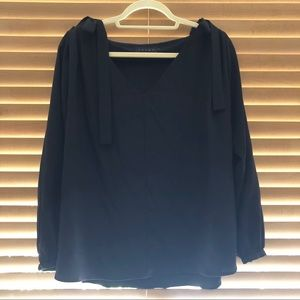 Hatch Collection Maternity Black Blouse